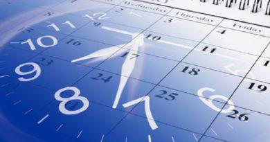 Composite of Calendar and Clock