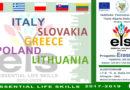 Accoglienza Delegazioni Straniere – Progetto Erasmus – Essential Life Skills