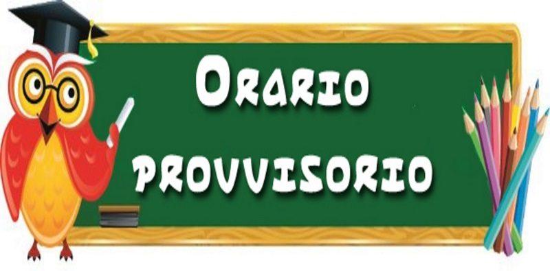 Orario Provvisorio Classi dal 24 settembre al 03 ottobre per l'a.s. 2020-2021