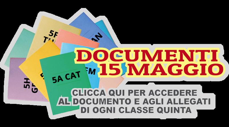 Documenti del 15 maggio – Esame di stato 2019/2020