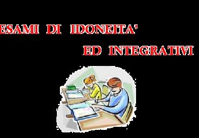 Esami Idoneita'/Integrativi anno scolastico 2021-2022