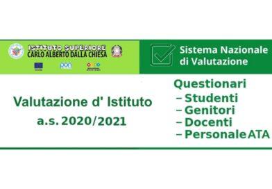 Autovalutazione d'istituto – questionari docenti/personale ATA/genitori/studenti