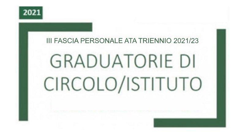 Graduatorie Provvisorie di Istituto relative alla 3^ Fascia del Personale ATA triennio 2021/23