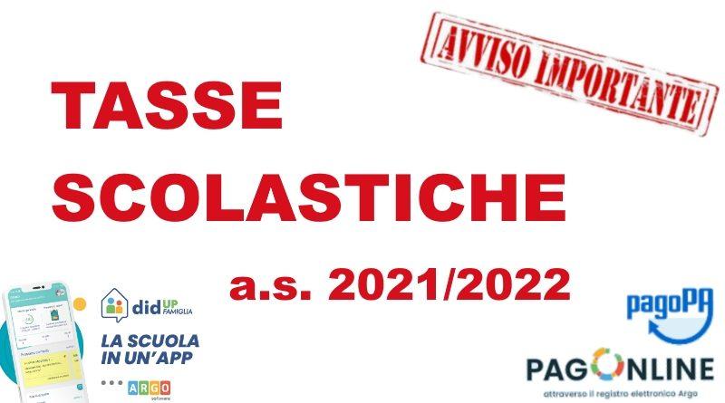 Tasse scolastiche e contributo volontario di Istituto a.s. 2021/2022