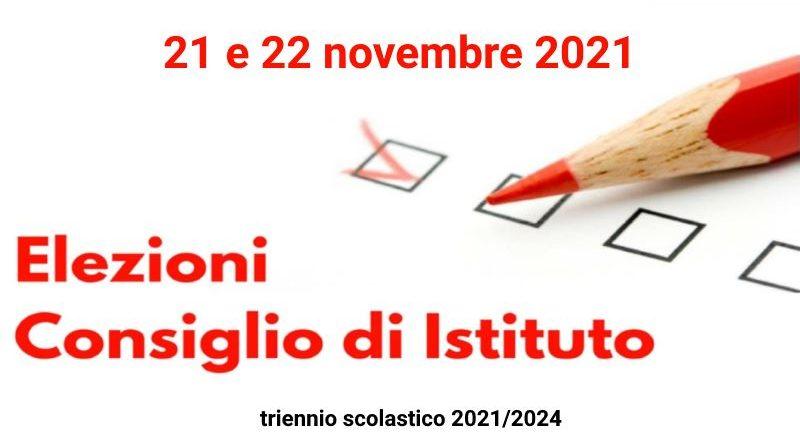 Elezioni per il rinnovo del Consiglio di Istituto. Triennio 2021/2024