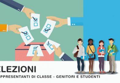 Elezioni per il rinnovo dei rappresentanti Consigli di Classe a.s. 2021-22 (componente alunni-genitori)